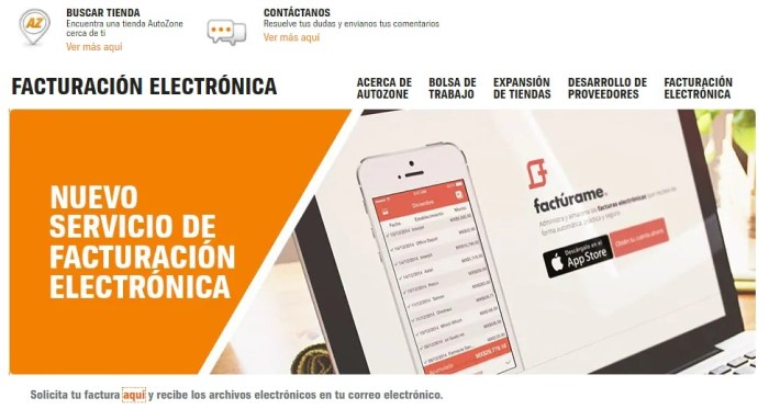 Manual para facturar mi ticket de AutoZone • Facturación Ya